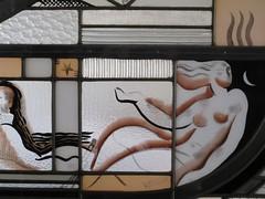 Vitrail Psych (1933), dtail, Louis Barillet - Demeure du matre verrier Louis Barillet, aujourd'hui muse Mendjisky, 15 square de Vergennes, Paris XVe (Yvette Gauthier) Tags: paris muse exposition vitrail verre schneider artdco paris15 psych charlesschneider atelierdartiste matreverrier louisbarillet demeuredelesprit musemendjisky