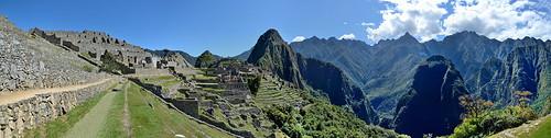 Ruins at Machu Picchu in Peru pano1 5-24-15
