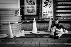 (Peter Ohsaki) Tags: road street new city people white black west public sign shop architecture shopping bag walking this photo outdoor candid flag leeds front safety peter level fujifilm info nik safe viewing feedback additional provide lunaphoto urbanarte xpro2 photoadd