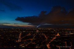 Eiffel Tower and tail end of sunset from the top of Montparnasse Tower (Pale_Cow) Tags: paris canon montparnasse 24105mm 5dmarkiii