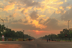 IMG_2560 (Tarun Chopra) Tags: morning travel orange india clouds sunrise photography cycling bikes indiagate canoneosm gurugram