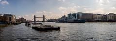 Thames Panorama (Neal_T) Tags: city uk sky urban panorama london architecture clouds londonbridge boat fuji norfolk hmsbelfast norwich fujifilm londoncity themes riverthemes xt1