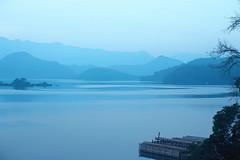 2-22 (EH500) Tags: mountain lake color slr film water sunrise landscape nikon scenery fuji taiwan slide velvia 135 nikkor  fujichrome nikoncoolscan  sunmoonlake angenieux rvp fe2 70210mm  rvp100 angenieux70210mm    fujichromevelvia   angnieux scanbynikon9000ed