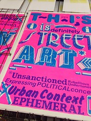 This is Street Art (Miss Mini Graff) Tags: streetart ink poster screenprint posters type prints letraset fluoro 2016 screenprints urbancontext thisisstreetart permaprint