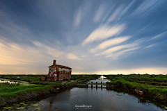 Waiting for the stars (Daniele Bisognin) Tags: old venice sunset sky italy house clouds river stars ruin lagoon bluehour