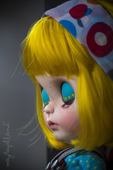 Custom #9 (Dolly Adventures in the Galland Household) Tags: cute art childhood hair toy photography gold bob blythe freckles custom collectibles eyelids