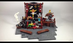 The Clockwork Show (Video) (burningblocks) Tags: robot dance lego stage entertainment technic empire ottoman middle eastern gears mech steampunk moc