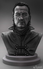 The Sellsword (Dani @ Birdy/Foxes/Alchemy) Tags: game character bust clay figure jerome knight warrior got rendered flynn thrones zbrush keyshot bronn sellsword