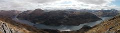 Sgurr nan Eugallt across Loch Hourn from the summit of Druim Fada (Mumbles Head) Tags: mountains scotland highlands grahams glenelg