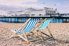 Life's a Beach II (ShrubMonkey (Julian Heritage)) Tags: sea beach coast pier seaside brighton shingle coastal deckchairs palacepier shallowdof a7r