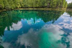 Kitch-iti-kipi Spring plume (jess_clifton) Tags: reflection aqua upperpeninsula clearwater kitchitikipi kitchitikipispring