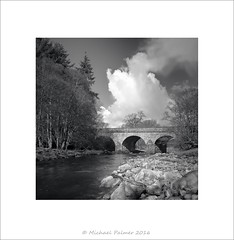 Bridge Over The River West Allen (Mike Palmer Fauxtography. Off) Tags: bridge trees bw west monochrome clouds canon river landscape eos mono allen northumberland lee 7d nd usm filters graduated grads polariser f28l michaelpalmer ef1735mm ninebanks