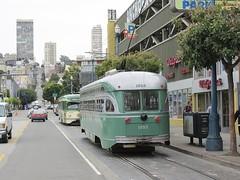 San Francisco Municipal Railway (codeeightythree) Tags: sanfrancisco muni fishermanswharf streetcar fline pcc streetcars 1053 beachstreet 1008 sanfranciscomunicipalrailway stlouiscarcompany