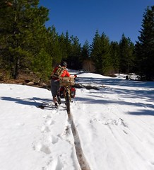 All Terrain Bike Packing Adventure (Doug Goodenough) Tags: bicycle bike cycle pedals spokes waha surly pugsley bikepacking packing fat fatbike snow sun idaho canyon river scott camping 2016 16 cabin drg53116 drg53116p drg53116papriltrip drg531