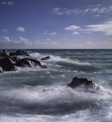 Perranuthnoe Cornwall (Alex365pix) Tags: sea water clouds coast nikon rocks cornwall seascapes cokinz