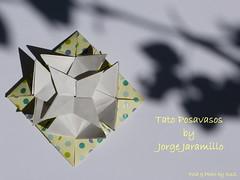 TATO POSAVASOS  by JORGE JARAMILLO (esli24) Tags: origami coaster papierfalten jorgejaramillo origamitato origamicoaster esli24 ilsez tatopasavasos