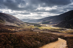 Glen Mark (Neillwphoto) Tags: clouds river path lodge hills lanscape glenesk glenmark
