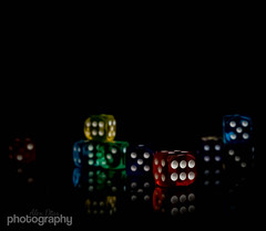 Dicey. 26/30 April Photo a Day (Alex Chilli) Tags: dice game die colours april roll six aprilphotoaday