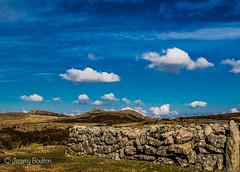 The wall (JKmedia) Tags: park blue wild wall clouds landscape bluesky devon national granite manmade tor dartmoor haytor canoneos7dmarkii boultonphotography