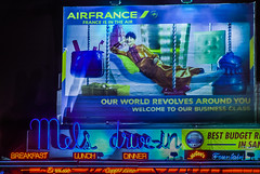 france is in the air (pbo31) Tags: sanfrancisco california blue color sign night dark spring nikon neon ad drivein billboard bayarea april mels cowhollow airfrance lombardstreet 2016 boury pbo31 d810