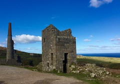 A Cornish tin mine (Seymour Travels Small Group Tours) Tags: travel light sky sun history tourism architecture clouds coast cornwall industrial mines poldark