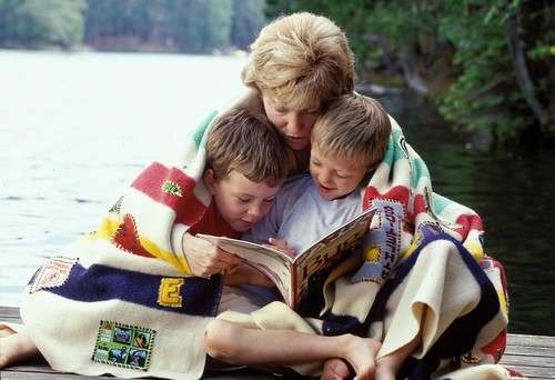 """Badge blanket"" family portrait for Cottage Life Magazine"