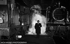 The Foreman watches on. (Jack Haynes Photography) Tags: heritage train photography events centre great railway steam western timeline british locomotive didcot oxfordshire charter preservation 1450