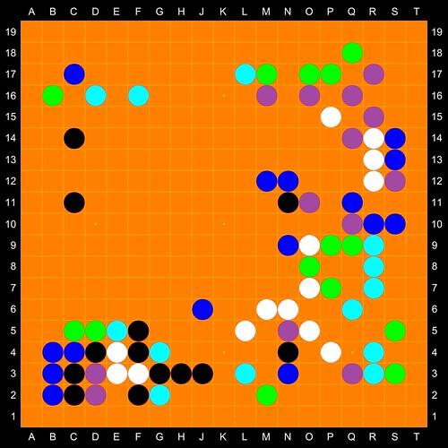 19x19 m-player toroidal glass blind Gô board