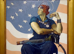 Rockwell, Rosie the Riveter (detail), 1943