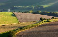 Kingston Ridge and Ashcombe Windmill (Alan MacKenzie) Tags: autumn landscape sussex brighton shadows unitedkingdom farm fields southdowns lewes