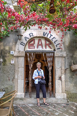 Sicily - Ann at Bar Vitelli (JimP (in Sarnia)) Tags: italy bar movie sicily godfather vitelli savoca