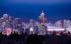 Big View From Little Mountain (Spencer Finlay) Tags: nightphotography downtown nightimages cityscape view lookout queenelizabethpark bcplace harbourcentre vancouvercityhall beautifulbc nikonphotography vancouverisawesome vancitybuzz photos604