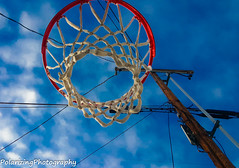 Sky Ball (Will_Nelson) Tags: city blue winter sky net beautiful basketball clouds goal alley samsung crown coronado
