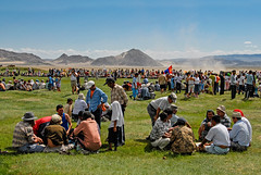 Visitors of a Mongolian Naadam