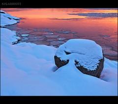 Rock-Powder-Sunrise (SGarriott) Tags: winter snow cold reflection ice water norway rock stone sunrise landscape coast norge frozen frost olympus shore freeze hdr omd kristiansand 1240mm ksgarriott scottgarriott em5ii