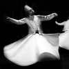 Whirling dervish (Rizwan On Mars) Tags: bw motion blur silhouette composition turkey dance dancing performance dancer istanbul minimal devotion mystical sufi sufism bnw mystic dervish meditaion contemplation rumi iphone mevlana darvish