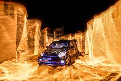 Batman The Lagend (JesseChong74) Tags: longexposure lightpainting car wall fire nikon flame transportation tamron softbox firewall myvi 2470 v860 godox ad180 d800e