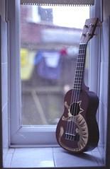 Customised (Stephanie Overton) Tags: england music art film 35mm paint ukulele pentax country musical dorset instrument custom wimborne wimbourne wimborneminister