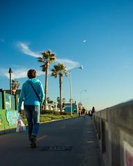 Boardwalk (flightlevel000) Tags: street sky cloud sun beach colors painting sand mural sandiego homeless banana sd boardwalk konica 40mm hexanon a7ii