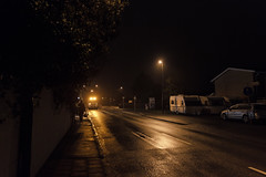 IMG_28080 (Falckaren) Tags: road street canon streetlight long shadows sigma rainy maintenance bags grocery malm 1835 550d