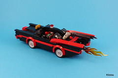 Batmobile 1966 Classic TV series (Kloou.) Tags: brick art classic robin toy toys photography photo tv artist photographer lego 1966 batman batmobile arttoy moc afol legoart toyphotography legophotography legoartist legographie kloou
