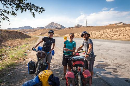 Spotkanie z francuskimi rowerzystami