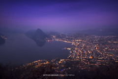 #085 All'alba - Lugano (Enrico Boggia | Photography) Tags: alba lugano paradiso citt mattina febbraio 2016 luganese lagodilugano ceresio castagnola montesansalvatore campioneditalia montebr enricoboggia vettamontebr