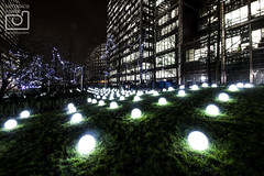 'Globoscope' by Collectif Coin (VeRoNiK@ GR) Tags: winter light colour london beautiful festival night photography january canarywharf winterlights 2016 isleofdogs