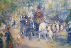 Renoir, The Grands Boulevards (detail), 1875