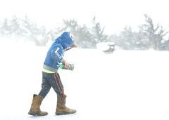 33/365. Dad's Boots. (mickifries) Tags: snow kids nebraska blizzard littleboys 365project candidchildhood