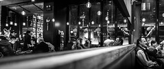 the pub (Rob-Shanghai) Tags: china leica people bar night relax fun mono mirror pub shanghai pano drinks cinematic refections hongmeilu leicaq