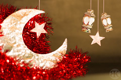 Ramadan Kareem (Boodi Kadi Gallery) Tags: decorations red moon white macro yellow closeup night season stars gold golden evening traditional culture indoor celebration most gift present tradition popular ramadan viewed boodikadigallery