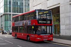 Stagecoach East London Scania N230UD OmniDekka 15101 LX09FYW at Canary Wharf (Mark Bowerbank) Tags: london east wharf canary stagecoach scania 15101 omnidekka n230ud lx09fyw