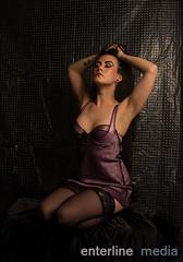 release (enterlinemedia) Tags: sexy longhair lingerie slip satin darkhair chemise longblackhair leja studioshoots conceptualmadness princessleja lejasivharju